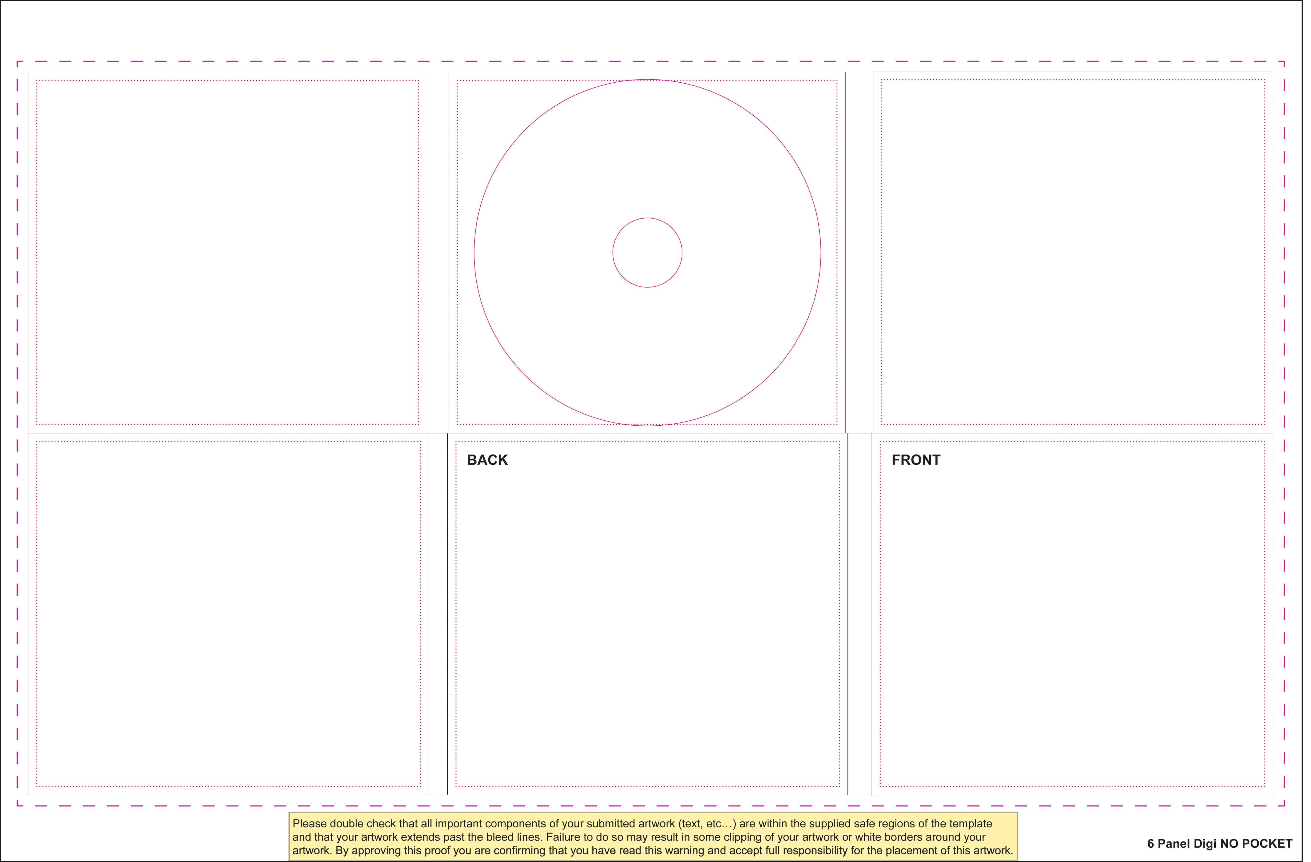 templates for disc packaging els productions. Black Bedroom Furniture Sets. Home Design Ideas
