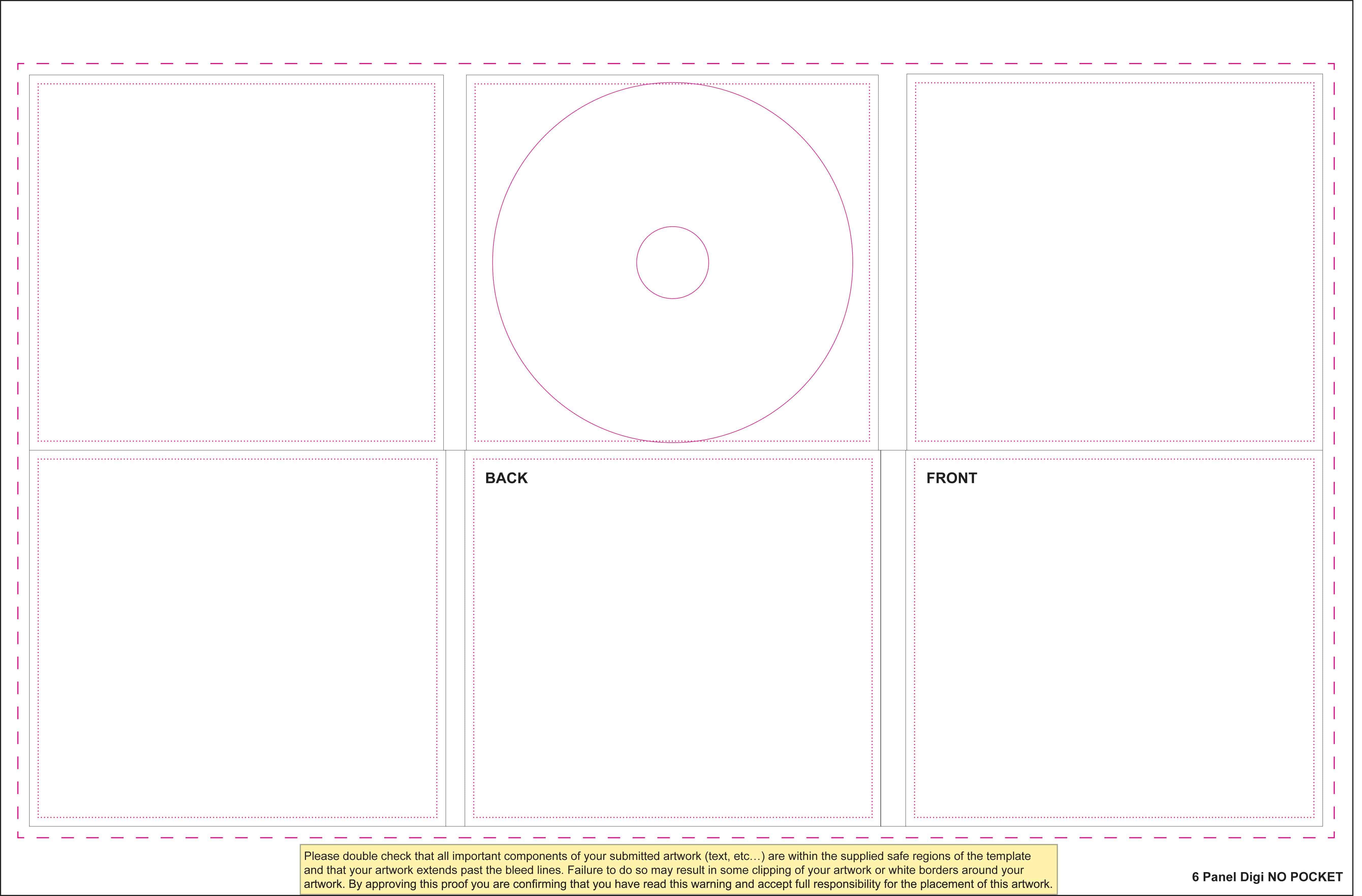 templates for disc packaging els productions. Black Bedroom Furniture Sets. Home Design Ideas