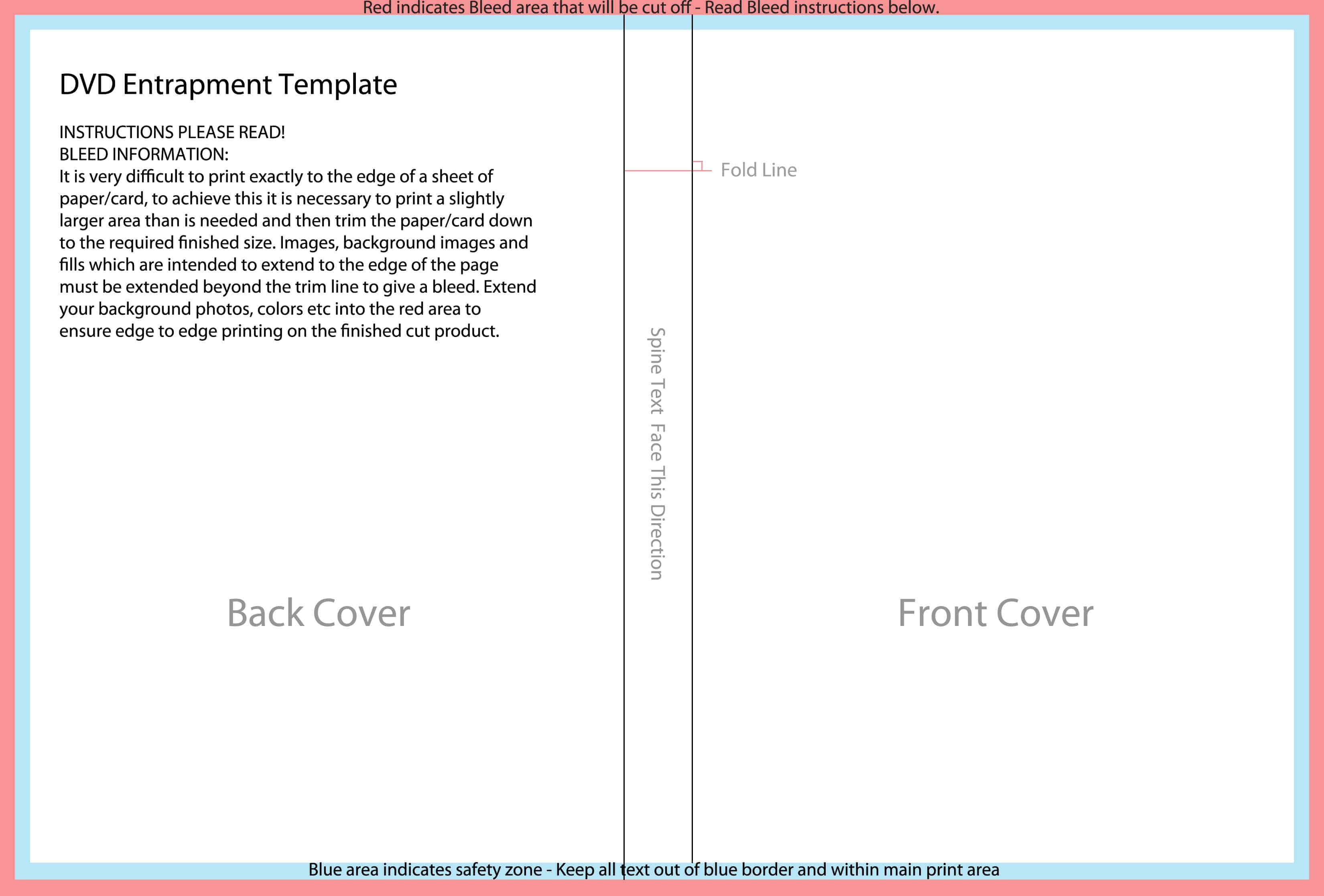 Templates For Disc Packaging Els Productions