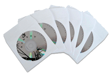 cd duplication with paper and vynal sleeves or clam cases