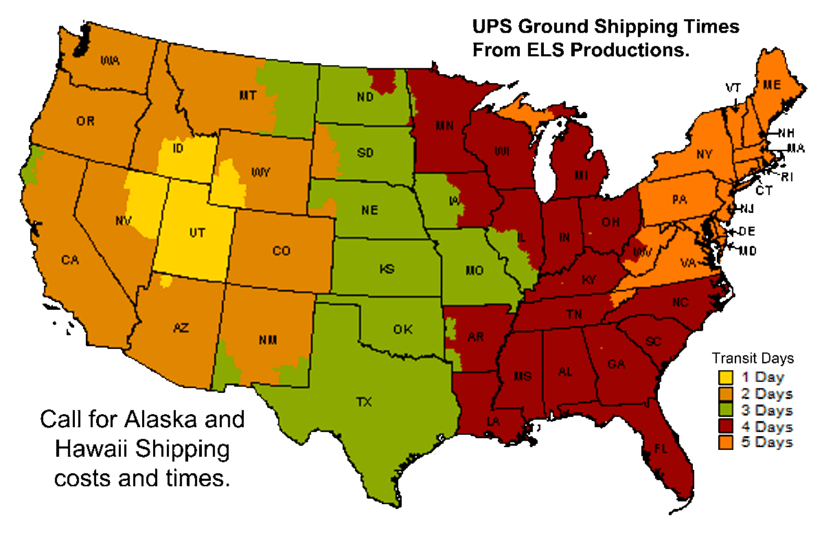 cd duplication - UPS map