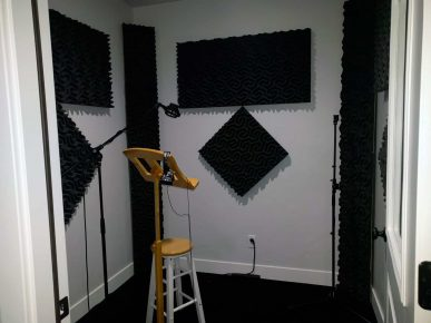 Vocal Booth in Utah County Studio